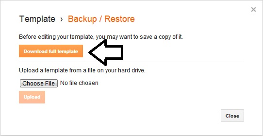 Bagaimana Cara Backup Data Blog dan Template