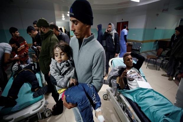 Israel Mengebom Gaza di 'Hari Kemarahan', 25 Warga Palestina Terluka