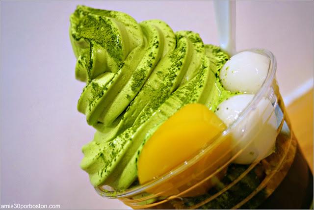 Parfait Maiko Special de Matcha Café Maiko en el Barrio Japonés de San Francisco