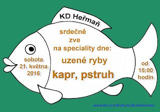 Uzené ryby v KD Heřmaň