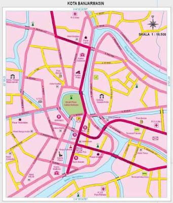 peta Banjarmasin ibukota provinsi kalimantan selatan