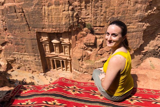 El mirador superior, el mejor mirador del Tesoro de Petra, Jordania