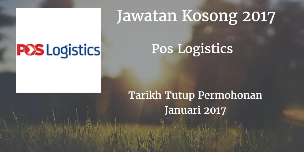 Jawatan Kosong Pos Logistics Januari 2017