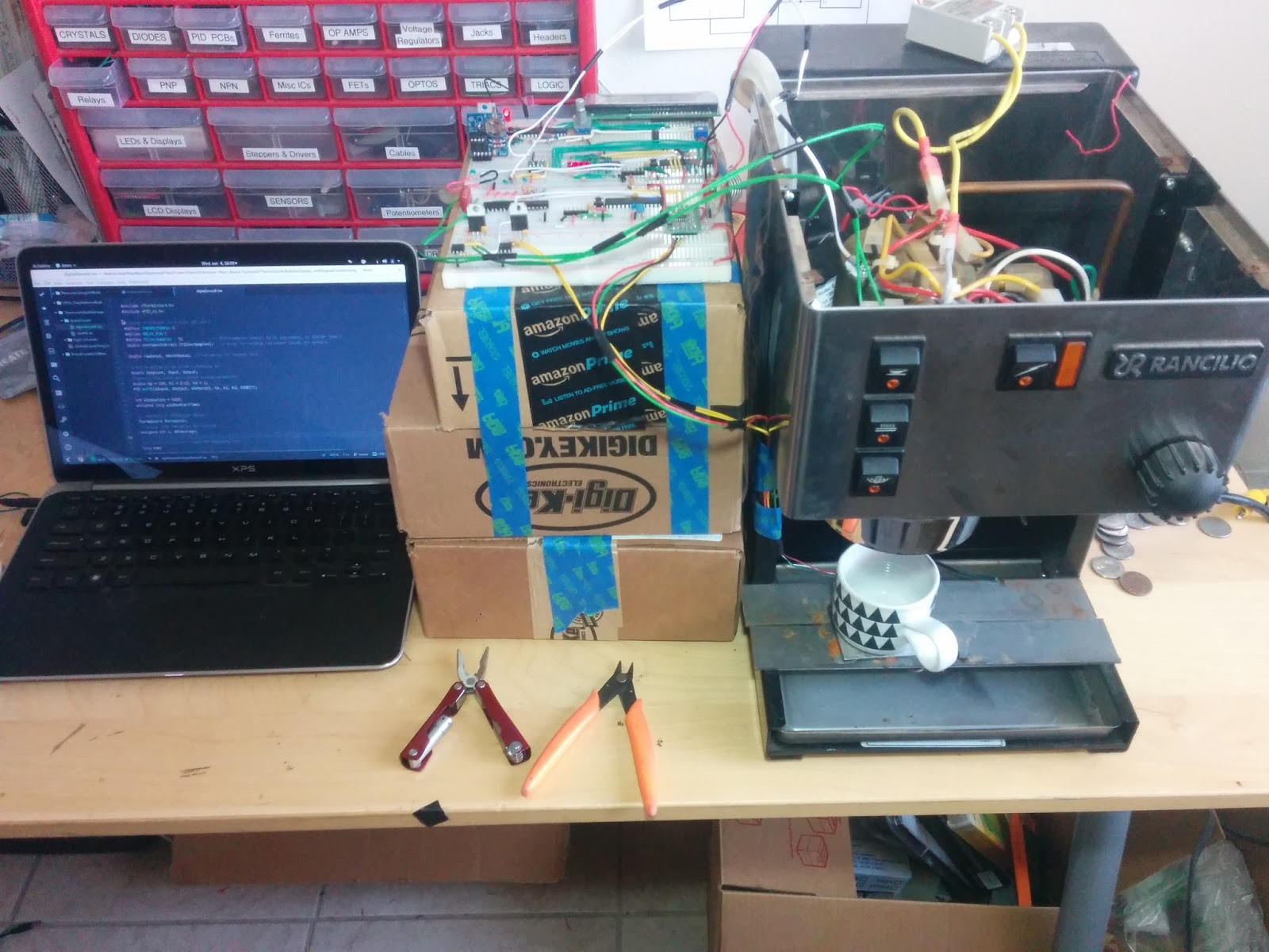 more progress in the rancilio silvia mod project arduino basedand here are some photos of the system currently