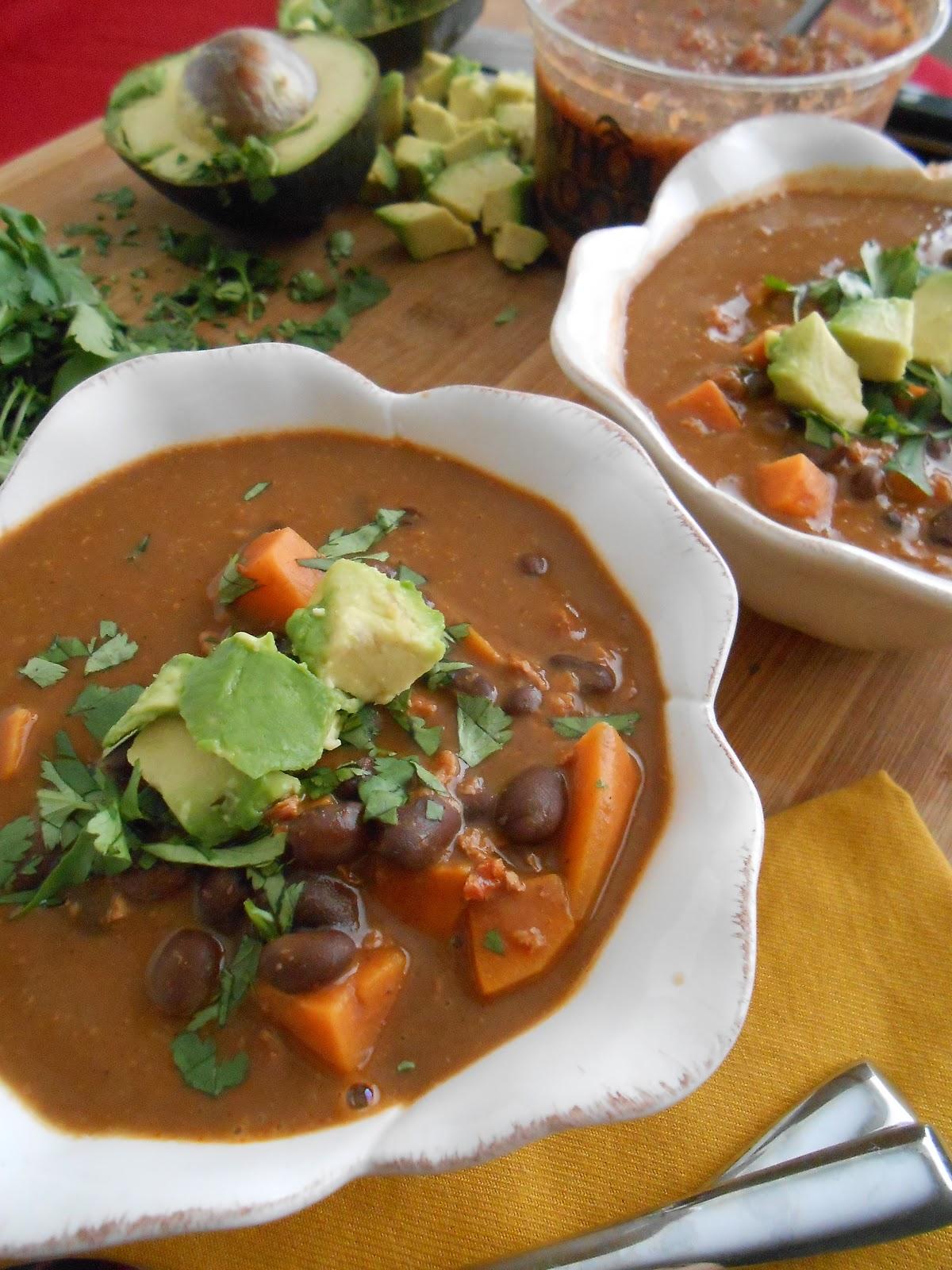 Black Bean, Sweet Potato & Soy Chorizo Soup - flora foodie
