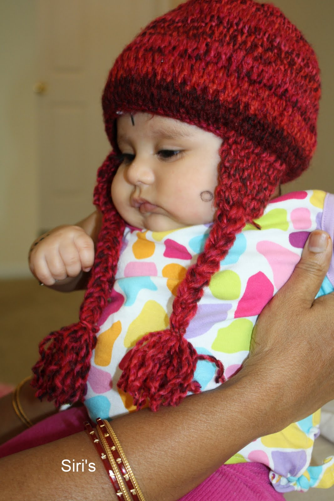 49d98ffb552 Siri s Kitchen  Crochet baby hat with ear flaps and plaits