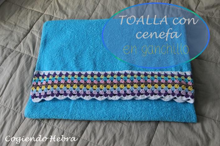 Cogiendo hebra toalla de ba o con aplicaci n a ganchillo for Toallas bano ikea