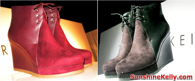 charles & keith, shoes, handbag, latest trend, autumn winter 2013 collection, ankle boots, suede material
