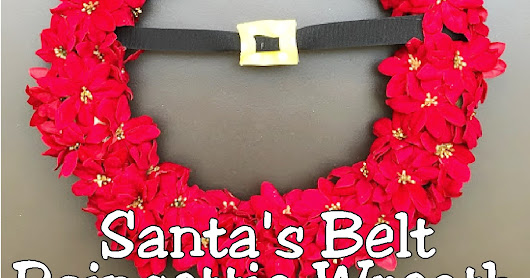Santa's Belt Poinsettia Christmas Wreath