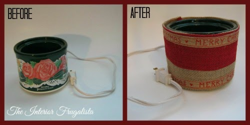 Mini Potpourri Crockpot Before and After