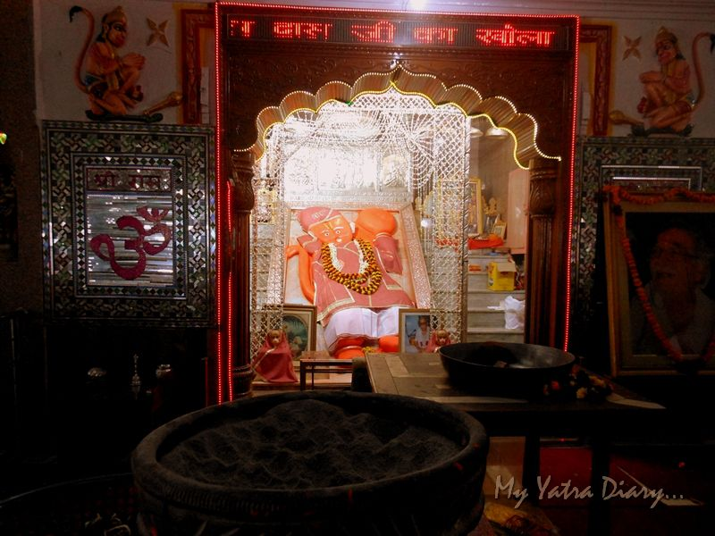 The reclining image of Khole Ke Hanuman Temple, Jaipur, Rajasthan