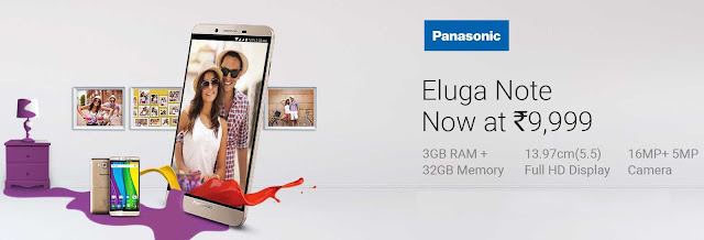 Panasonic Eluga Note 3GB RAM + 32GB ROM