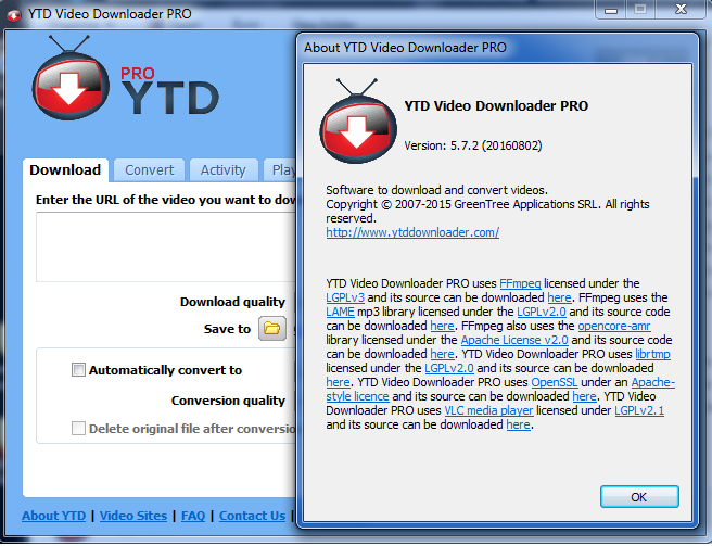 ytd er for windows 7
