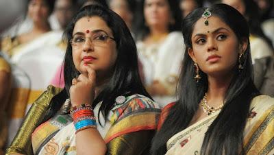 Karthika Nair with aunt Ambika
