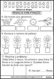 Atividades de matemática e primavera