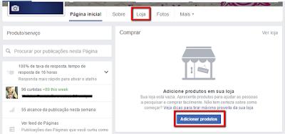 Seção Loja Facebook - E-commerce