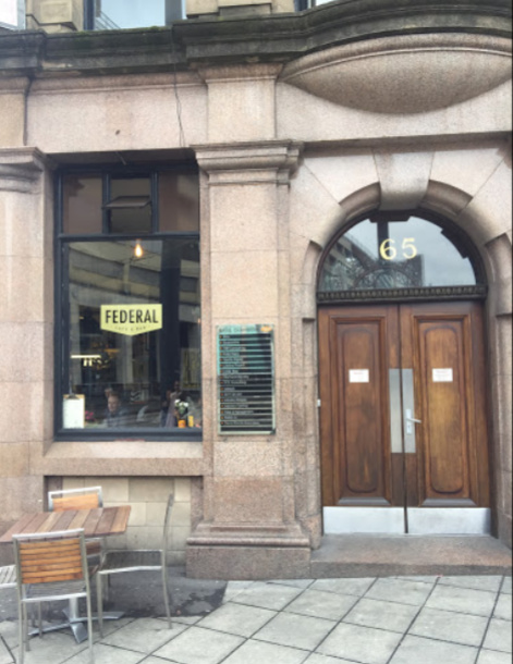 Federal Cafe Bar Manchester Greater Manchester UK Gluten Free Options