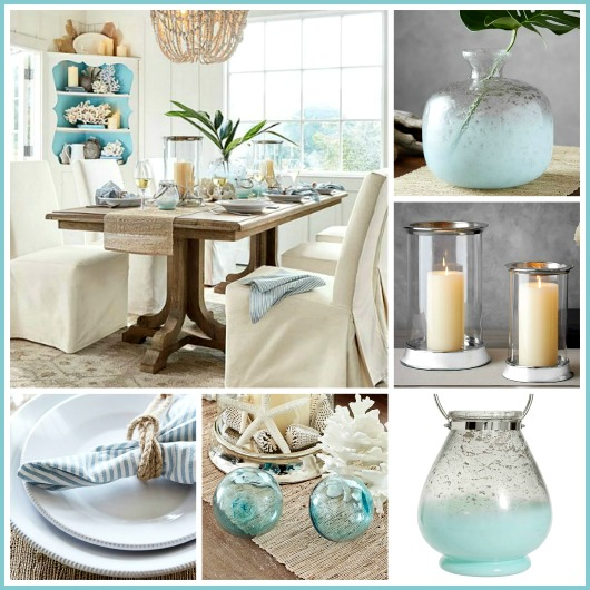 Coastal Calm Table Dining Room By
