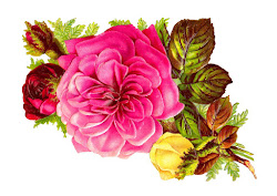 Antique Images: Rose Bouquet Clip Art of Pink Red and