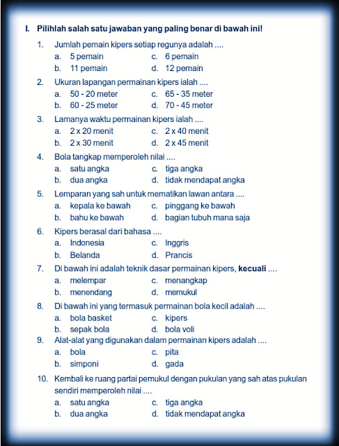 Download Kumpulan Soal Uts Genap Pesjaskes Pjok Kelas 4 Semester 2 Rief Awa Blog Download