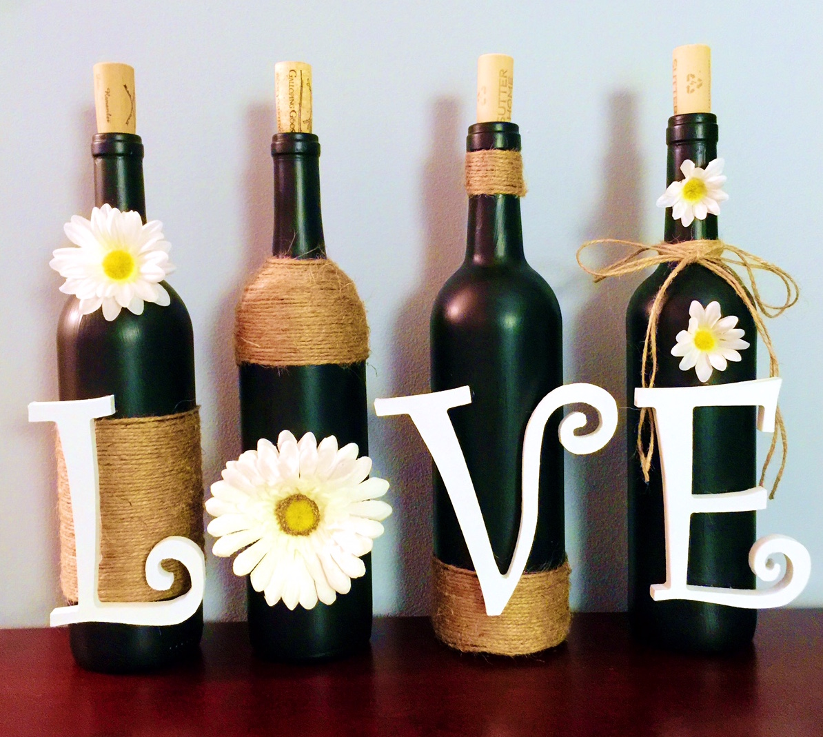 dear paradise diy wine bottle decoration