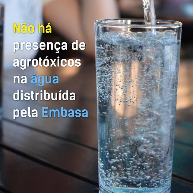 Análises demonstram que não há presença de agrotóxicos na água distribuída pela Embasa