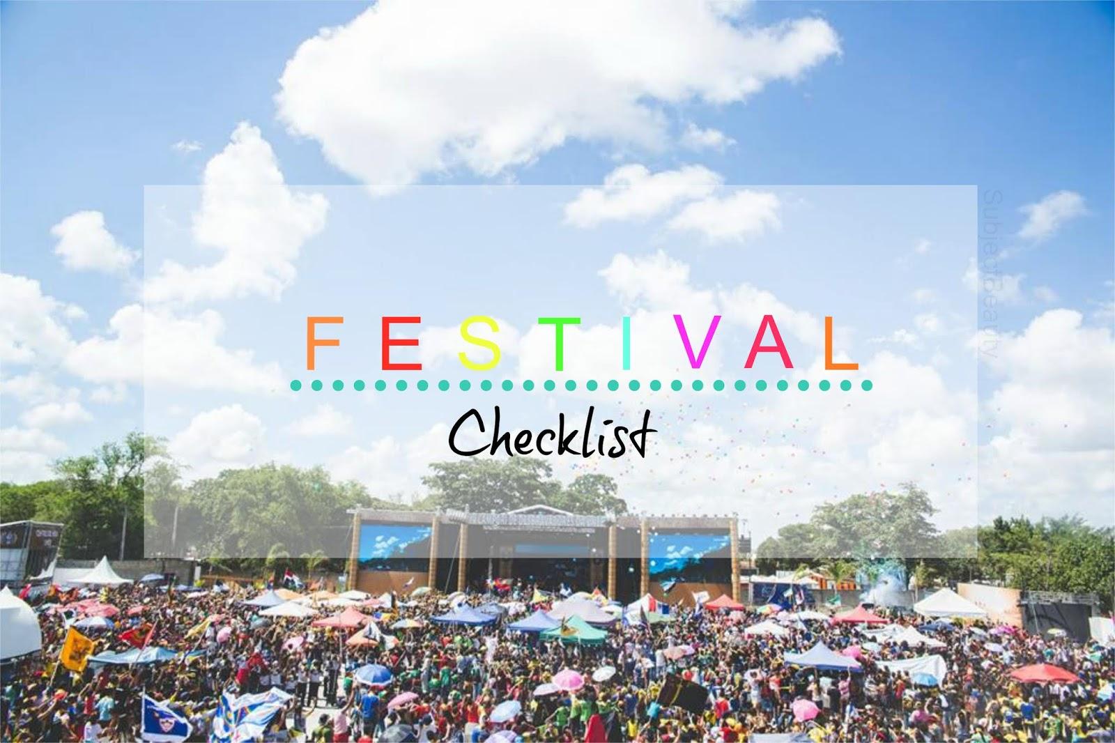 Festival Checklist
