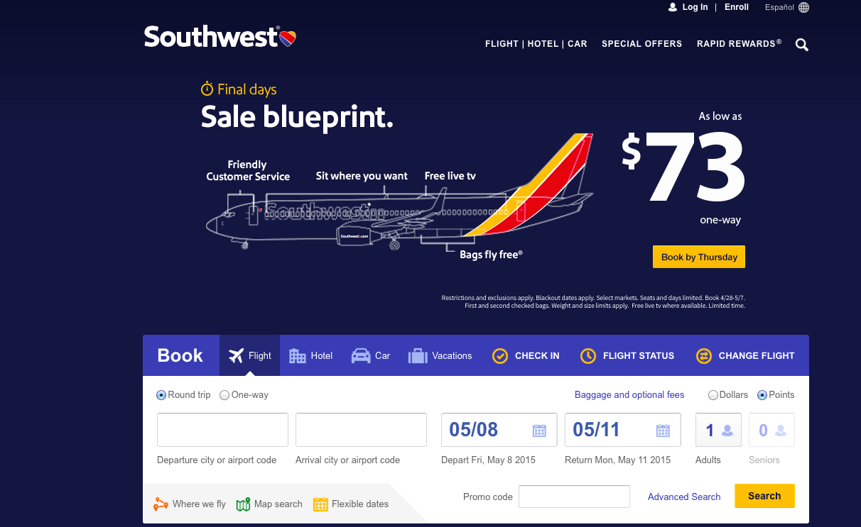 how to add my rapid rewards for past flights