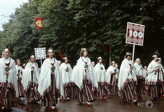 1973 год. Рига. Праздник песни на улицах города