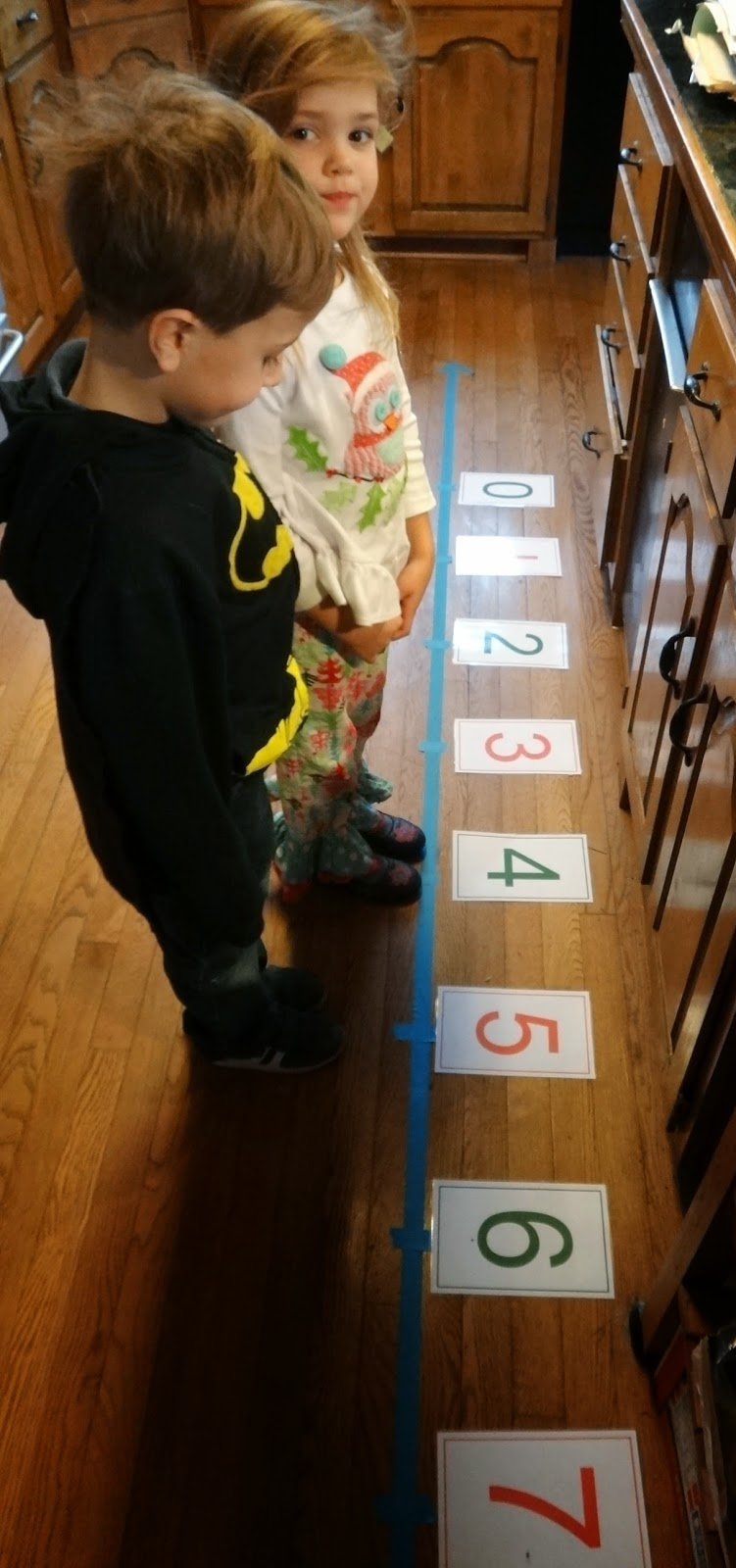 preschool interactive number line