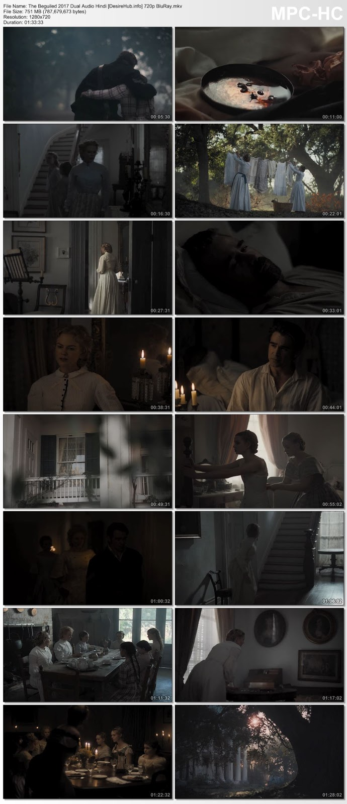 The Beguiled 2017 Dual Audio Hindi 720p BluRay 750MB Desirehub