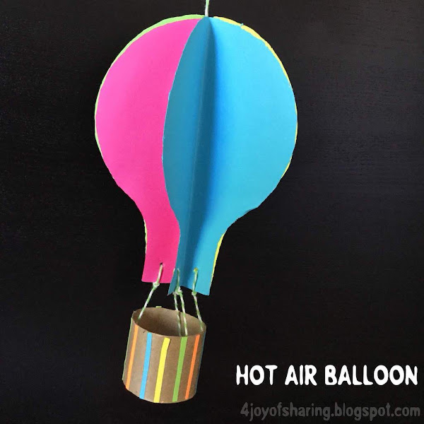 Colorful Hot Air Balloon Craft The Joy Of Sharing