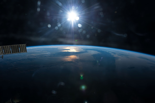 The Sun and Earth seen from the International Space Station