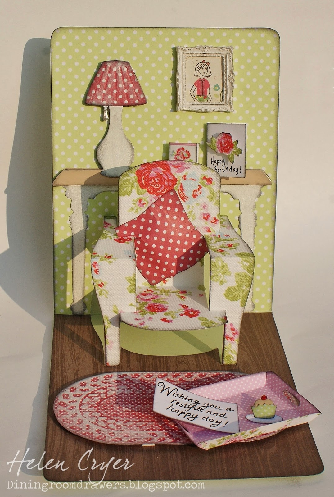 The Dining Room Drawers: Pop 'n Cuts 3-D Chair card - Fauteuil Pop Up