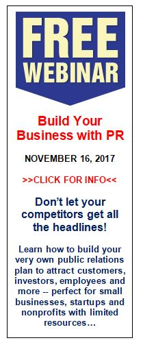 Free Webinar Build Your Business with PR with Dave Menzies PR Coach, Consultant and Trainer