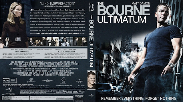 The Bourne Ultimatum Bluray Cover