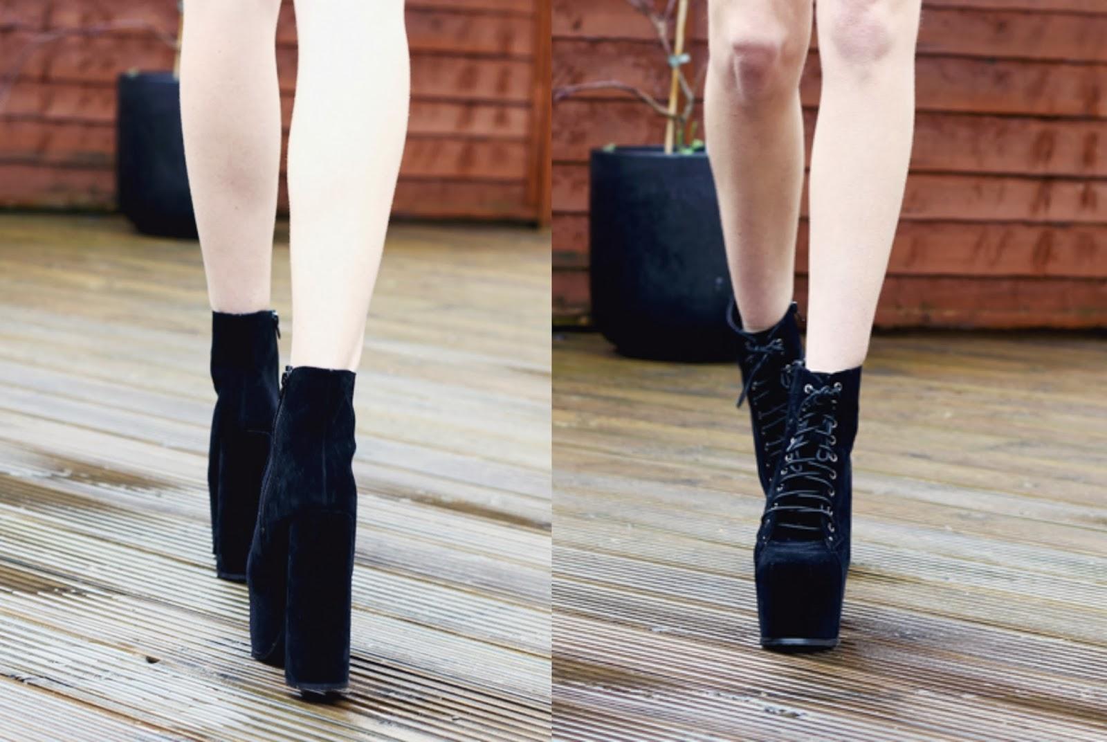 platform boots, Jeffrey Campbell jupes, platform shoes, boots, suede boots, uk blogger, cambridge blogger, uk style blogger, best bloggers, top fashion blogs, top fashion bloggers, affordable fashion blogs, bargain, cheap boots, cheap jeffrey campbells,