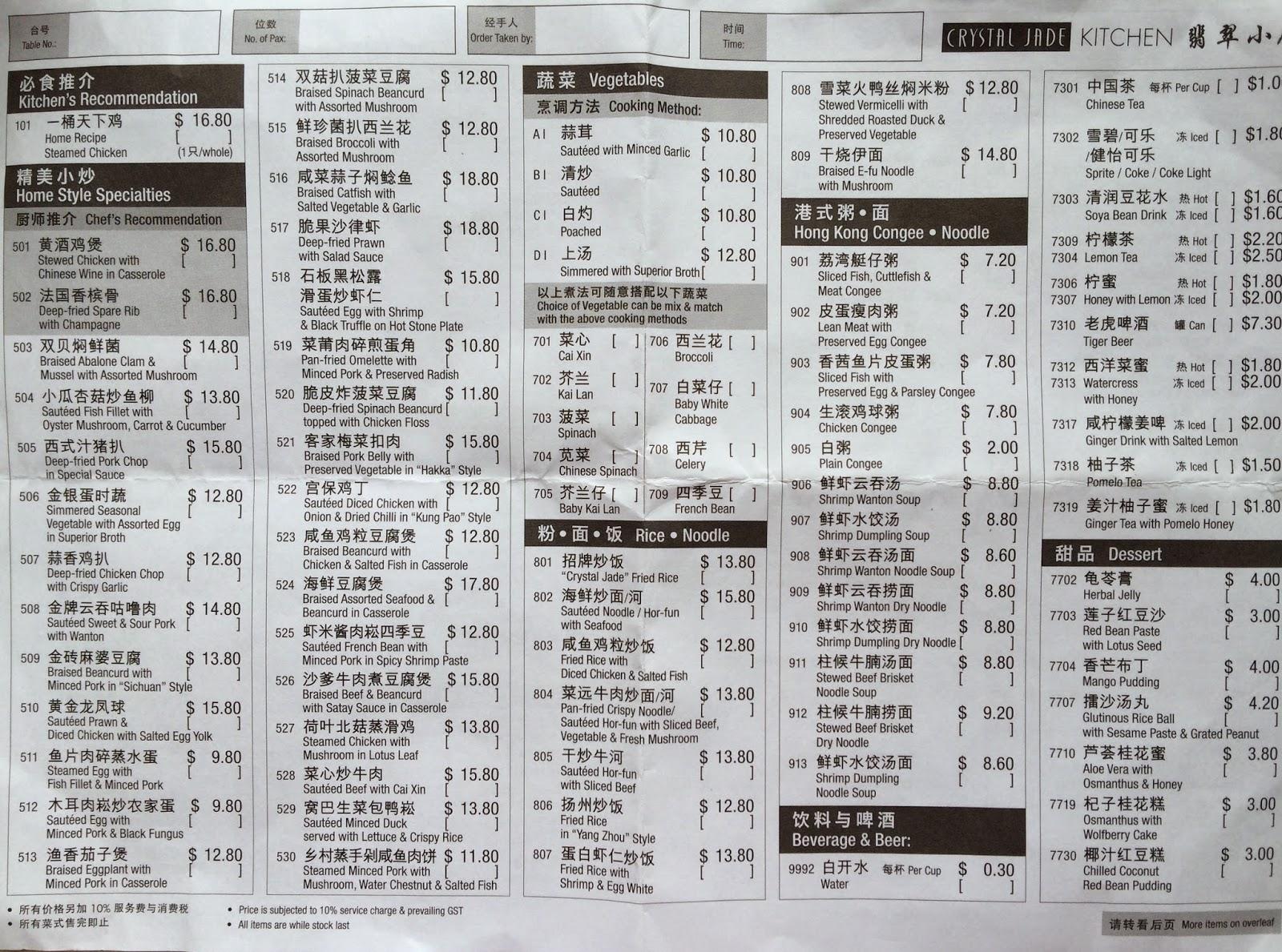 Hungry Ghost Crystal Jade Palace Restaurant Takashimaya