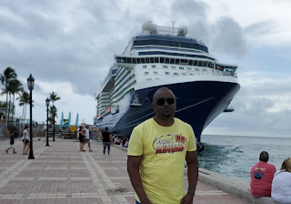 Picture of Roklan in front of Equinox Cruise ship in Key West