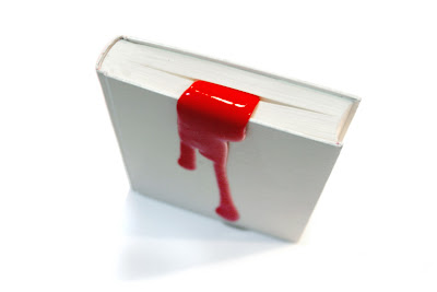 diseño de separadores que parecen sangre
