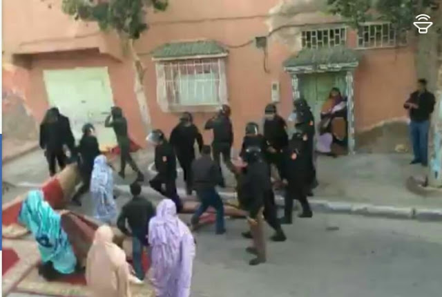 Moroccan forces intervene violently against funeral tent of deceased Deida Ould Yazid
