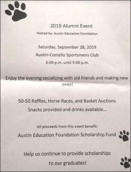 9-28 Austin 2019 Alumni Event