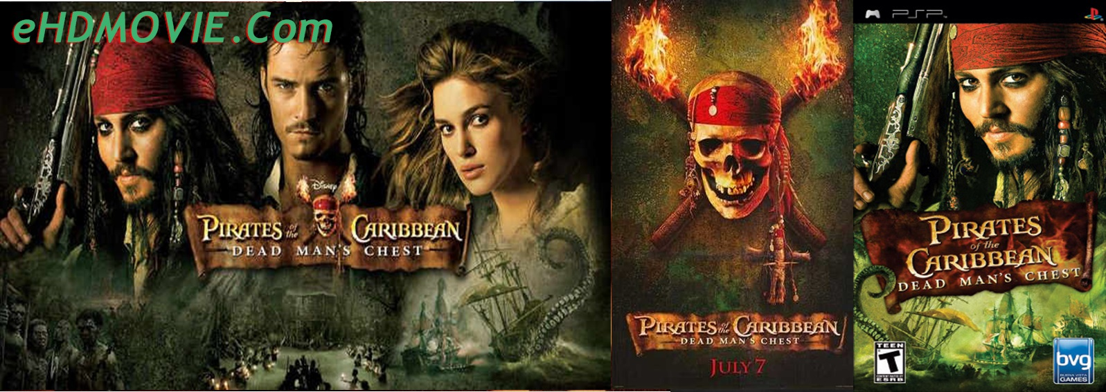 Pirates of the Caribbean: Dead Man's Chest 2006 Full Movie Dual Audio [Hindi – English] 720p – 480p ORG BRRip 400MB – 1.4GB ESubs Free Download