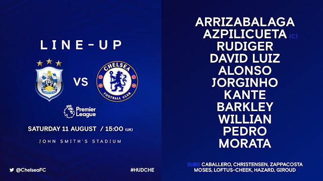 Chelsea starting XI vs Huddersfield