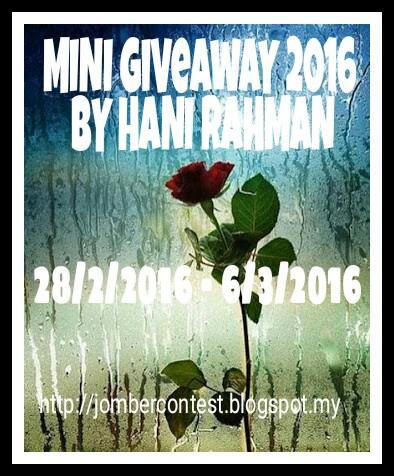 MINI GIVEAWAY 2016 BY HANI RAHMAN