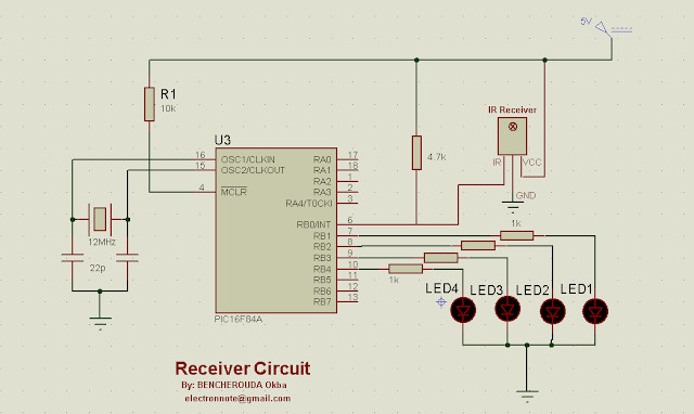 ir remote contol using pic16f84a microcontroller mikroc code