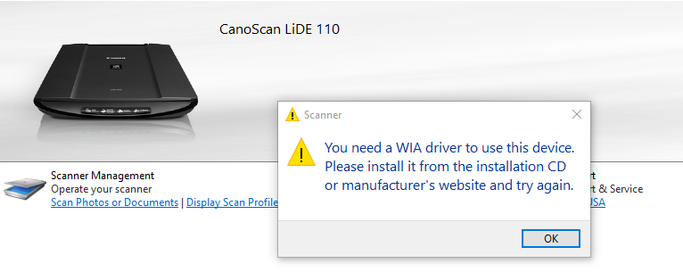 CANOSCAN LIDE 20 YOU NEED A WIA DRIVER FOR MAC DOWNLOAD