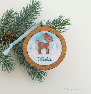 personalized holiday ornaments handmade by SeptemberHouse
