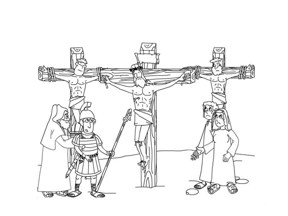 Illustration of the crucifixion coloring ~ Child Coloring