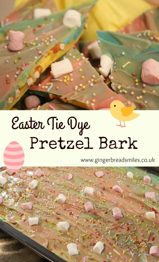 Easy Easter Tie Dye Pretzel Bark Recipe